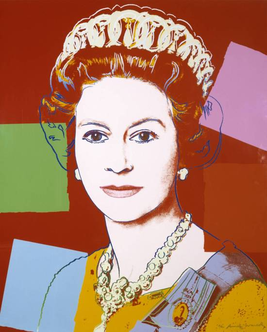 Queen Elizabeth II of the United Kingdom 1985 by Andy Warhol