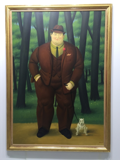 Fernando Botero - Man with Dog